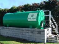 15,000L Single Skinned Oil Tank with Bund